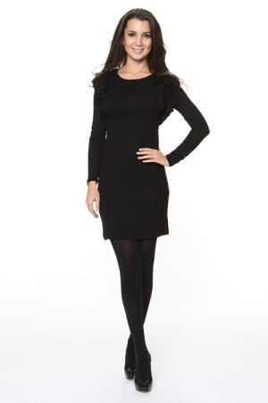 Облегающие платье с рюшей Piamente. Цвет: черный