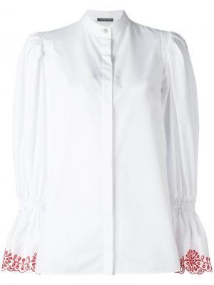 Блузка с пышными рукавами Alexander McQueen. Цвет: белый