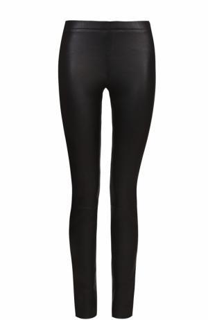 Кожаные брюки-скинни Zadig&Voltaire. Цвет: черный