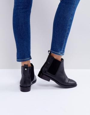 Faith Кожаные ботинки челси Binkie. Цвет: черный