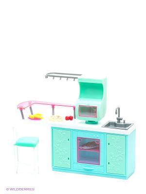 Набор мебели для кукол: кухня - Красотка 1Toy. Цвет: розовый, белый