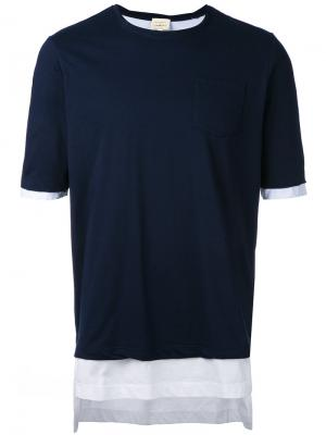 Layered T-shirt Wooster + Lardini. Цвет: синий