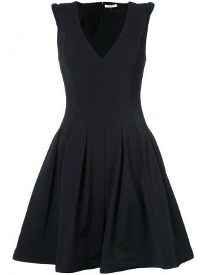 Расклешенное платье Halston Heritage. Цвет: чёрный