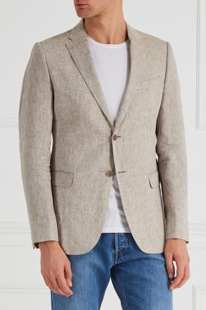 Льняной пиджак Armani Collezioni. Цвет: none