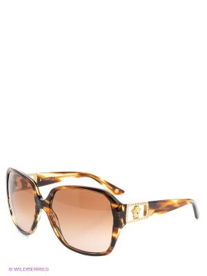 Очки солнцезащитные Versace. Цвет: коричневый