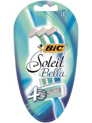 Женская бритва BIC Miss Soleil Bella 3 шт.. Цвет: голубой