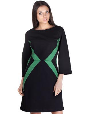 Платье OLIVEGREY. Цвет: черный, зеленый