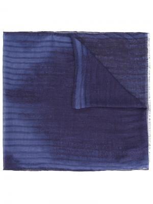 Шарф с абстрактным узором John Varvatos. Цвет: синий