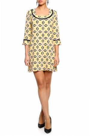 Платье DENNEY ROSE. Цвет: желтый, черный