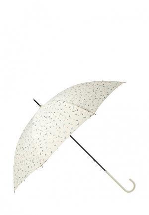 Зонт-трость Kawaii Factory. Цвет: бежевый