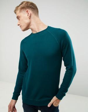 Esprit Свитшот с рукавами реглан. Цвет: зеленый