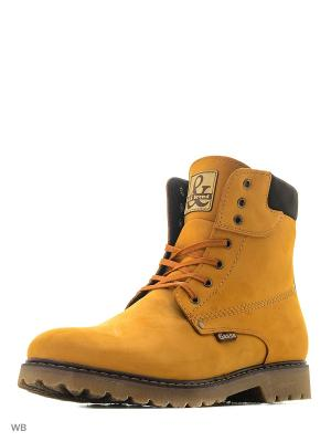 Ботинки GassA. Цвет: желтый