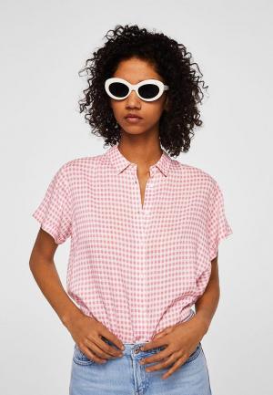Рубашка Mango. Цвет: розовый