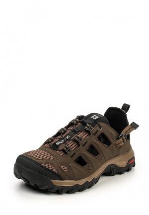 Ботинки трекинговые Salomon. Цвет: коричневый