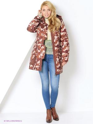 Куртка-парка DizzyWay. Цвет: бордовый