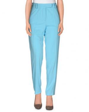 Повседневные брюки LEONARD Paris. Цвет: бирюзовый