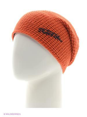 Шапка Tenson. Цвет: оранжевый