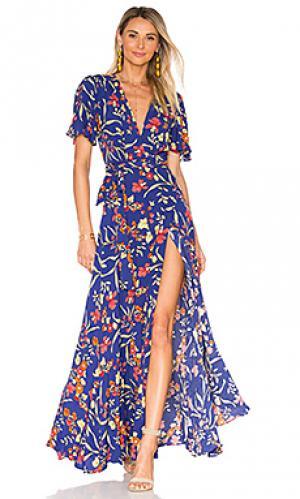 Платье кимоно plaza Privacy Please. Цвет: синий