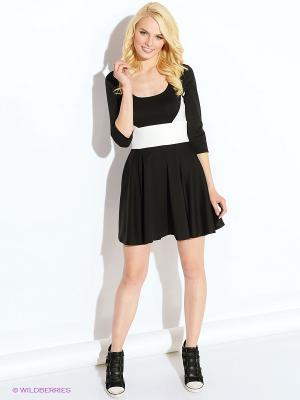 Платье Colambetta. Цвет: черный, молочный