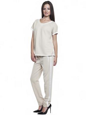 Блузка FRENCH HINT. Цвет: светло-бежевый