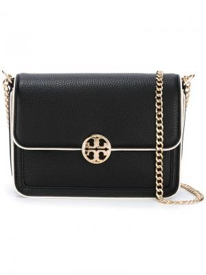 Gold-tone chain shoulder bag Tory Burch. Цвет: чёрный
