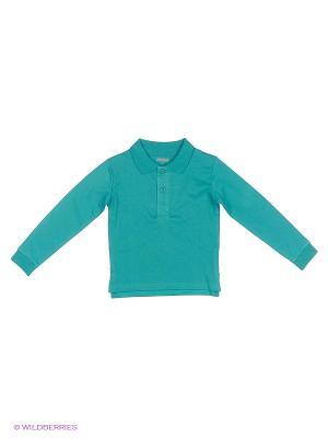 Рубашка-поло VILATTE. Цвет: морская волна