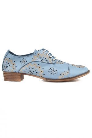 Туфли ENISSE. Цвет: голубой