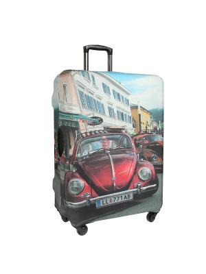 Чехол для чемодана Gianni Conti. Цвет: голубой