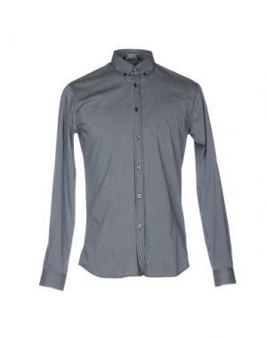 Pубашка AQUASCUTUM. Цвет: темно-синий