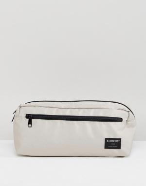Sandqvist Серая сумка на пояс. Цвет: серый