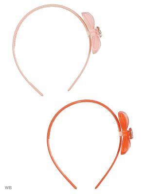 Ободок (бант 2шт) Bizon. Цвет: бледно-розовый, оранжевый