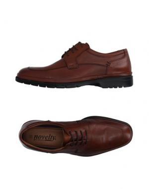 Обувь на шнурках NOVELTY. Цвет: коричневый