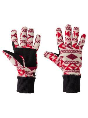 Перчатки HAZELTON GLOVE W Jack Wolfskin. Цвет: красный