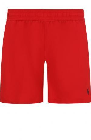 Плавки-шорты с карманами Ralph Lauren. Цвет: красный