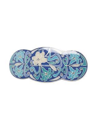 Заколки-автомат Clara Bijoux. Цвет: синий, бирюзовый, голубой