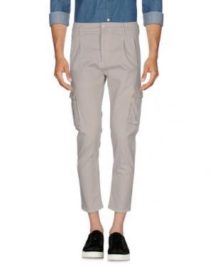 Повседневные брюки GREY DANIELE ALESSANDRINI. Цвет: голубиный серый
