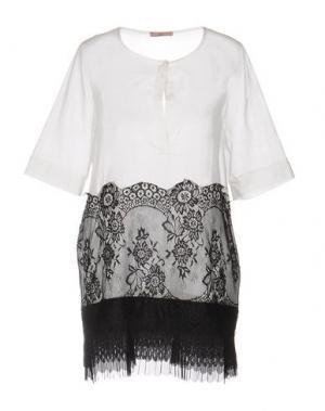 Короткое платье DV Roma. Цвет: белый