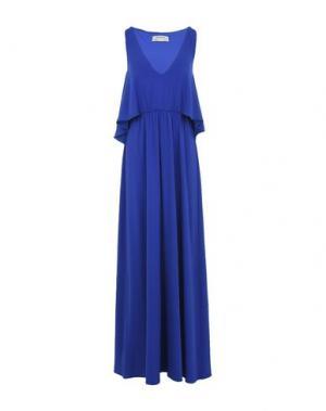 Длинное платье PINKO. Цвет: синий