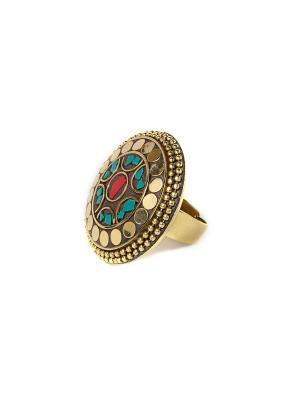 Кольцо Индийский узор MZ0094 Indira. Цвет: красный