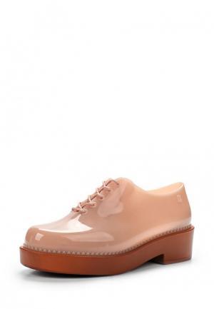 Резиновые ботинки Melissa. Цвет: бежевый