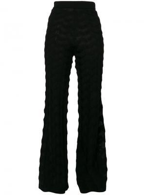 Расклешенные брюки M Missoni. Цвет: чёрный