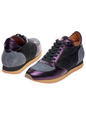 Кроссовки Via Roma 15. Цвет: серый, фиолетовый
