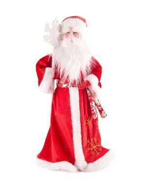 Фигурка интерьерная - кукла декоративная Дед Мороз Русские подарки. Цвет: белый, красный