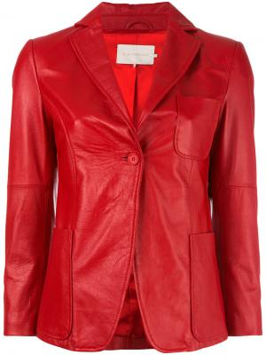 Приталенная куртка LAutre Chose L'Autre. Цвет: красный