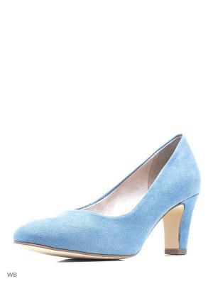 Туфли Tamaris. Цвет: голубой