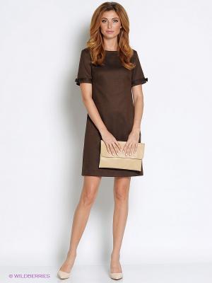 Платье Femme. Цвет: коричневый