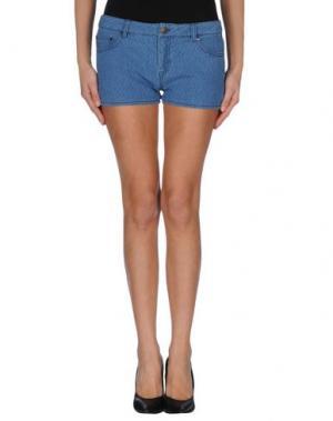Джинсовые шорты BY ZOÉ. Цвет: синий
