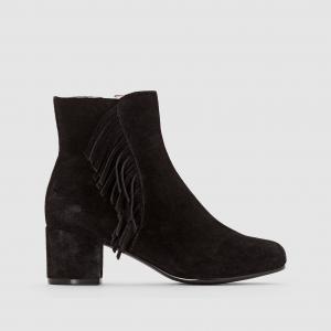 Ботинки замшевые на каблуке Abby MELLOW YELLOW. Цвет: черный