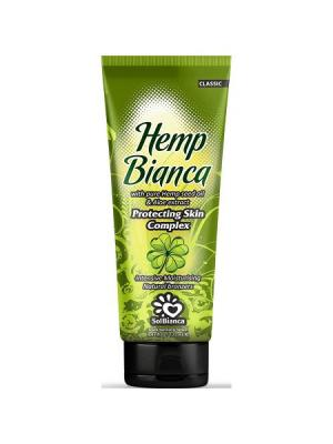 Крем для загара в солярии  Hemp Bianca с маслом апельсина, экстрактом алоэ и бронзаторами. Solbianca. Цвет: бежевый