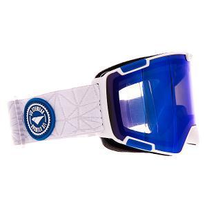 Маска для сноуборда  Crew Mtw-aba Blue/Mir/Smoke I/S Eyewear. Цвет: белый,синий